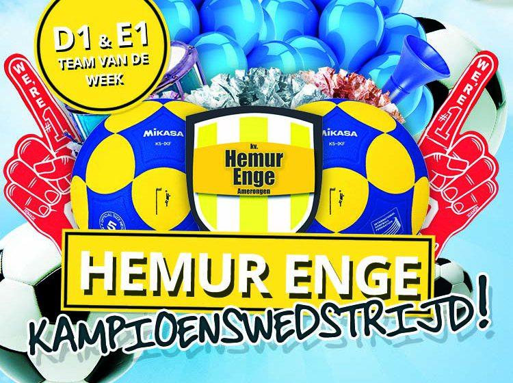 Kampioenswedstrijd Hemur Enge