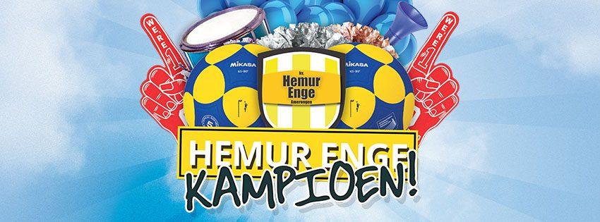 Hemur Enge 1 kampioen!!